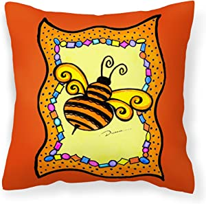 Caroline's Treasures LD6050PW1414 Bee Decorative Canvas Fabric Pillow, Large, Multicolor