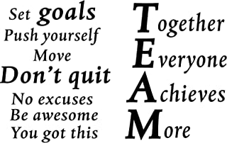 2 Sheets Motivational Wall Decals Vinyl Inspirational Quotes Stickers Together Everyone Achieves More Office Positive Sayi...