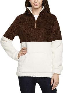 TSLA Women's Pullover Thermal Active Polar Fleece Sherpa Jacket