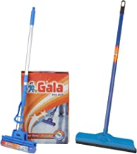 Gala Double Lip Wiper (Multicolor) + Gala PVAs Floor Plastic Mop (Blue)