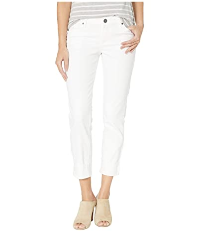 KUT from the Kloth Catherine Boyfriend Raw Hem in Optic White (Optic White) Women