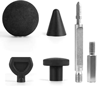 GeToo Jigsaw Massage Adapter and Bits - Jigsaw to Percussion Massager Converter, Set of 5