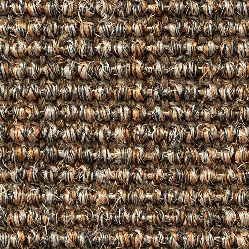 Teppichboden Auslegware | Sisal Naturfaser Schlinge | 400 cm Breite | grau braun | Meterware, verschiedene Größen | Größe: 5,5 x 4m
