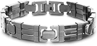 Steve Madden Stainless Steel Polished Link Bracelet for Men