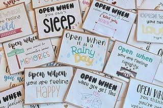Open When Letters, Valentine's Custom Card, Going Away Present, Boyfriend Gift, Birthday Gift, Open When Envelopes, Deploy...