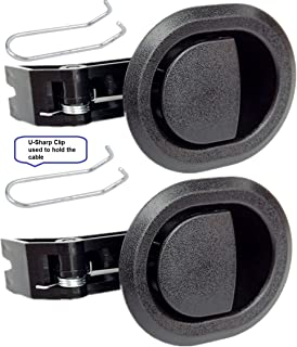 2X Recliner Replacement Parts @ Small Oval Black Plastic Pull Recliner Handle, Flapper..