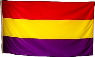Bandera Republicana Española Grande Exterior de Tela Fuerte Impermeable Resistente a la Intemperie, Bandera Republica 150x...