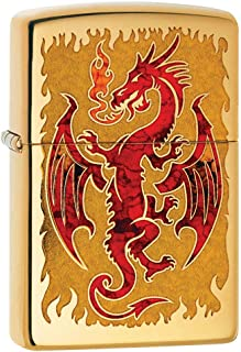 Zippo Lighter: Red Dragon, Fusion - High Polish Brass 80738