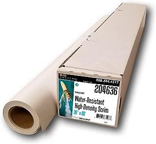 ValuJet Aqueous Scrim Banner High Density 15mil Banner Paper, Poster Paper, Banner Roll (36