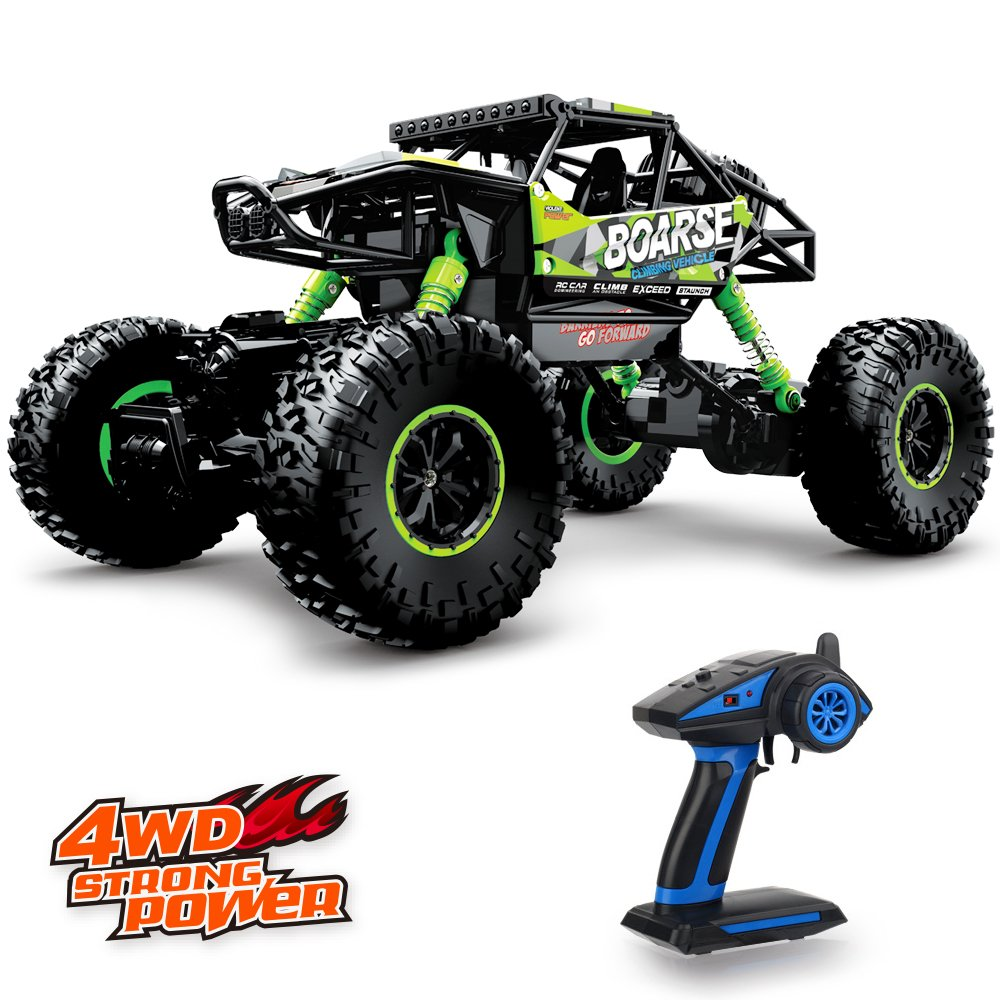 Geekper Electric Rc Car Offroad Remote Control Cars Rtr Rc Buggy Rc Monster Truck 1 16 4wd 2 4ghz High Speed With 1 Rechargeable Battery Green Amazon Com Au Toys Games
