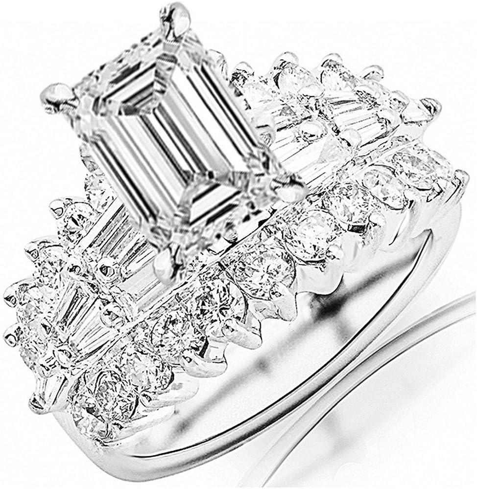 Limited time cheap sale 14K White Gold 4 Carat LAB GROWN DIAMOND CERTIFIED IGI Las Vegas Mall Exquisite