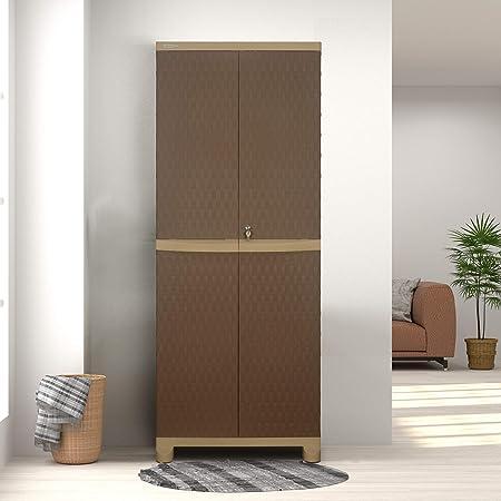 Nilkamal Freedom FB6 Plastic Cabinet Brown , 2 Doors