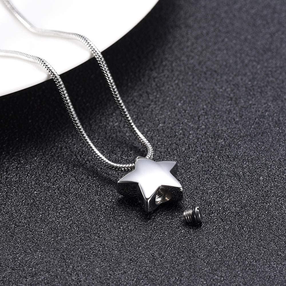 DFHEC Ashes Keepsake Urn Necklace Star Memo Steel Cheap SALE Start Stainless Mini New Free Shipping