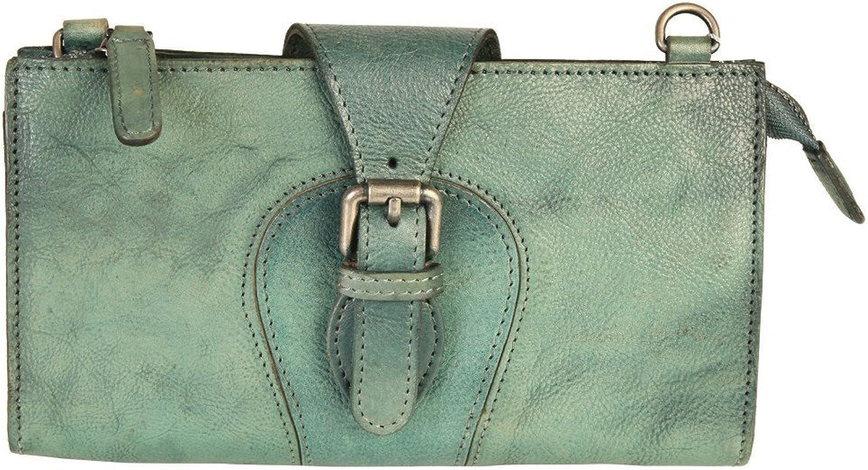 Diophy Genuine Leather Vintage-Dye Zipper Wallet 150240 Black