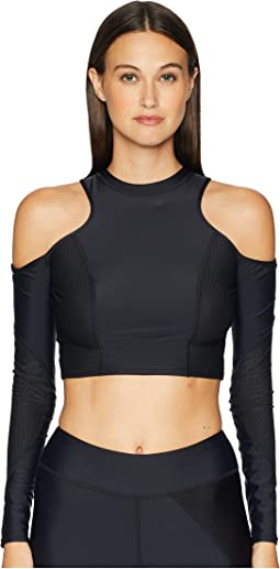 d3ec296b08bd9 Fila nikki crop cold shoulder top