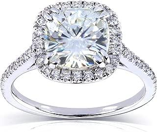 Kobelli Forever One (D-F) Moissanite Engagement Ring 2 1/4 CTW in Platinum