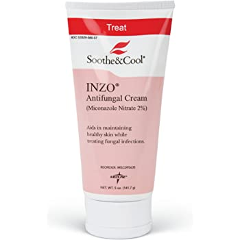 Soothe Cool INZO Antifungal Cream Contains 2 Percent Micronazole Nitrate 2 oz