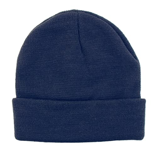 f461931f884 BYOS Winter Two Layers Soft Ribbed Knit Fisherman Beanie Hat in Solid Color