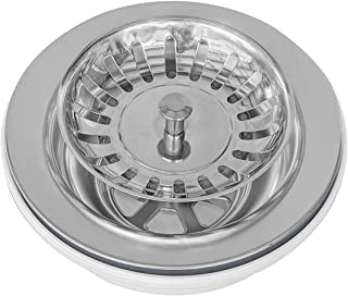"""MOCCOA 3.5"""" Stainless Steel Rustfree Kitchen Sink Drain Strainer with Basket Cover"""