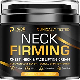 Neck Firming Cream - Anti Wrinkle Cream - Made in USA - Saggy Neck TIghtener & Double Chin Reducer Cream - Collagen & Reti...