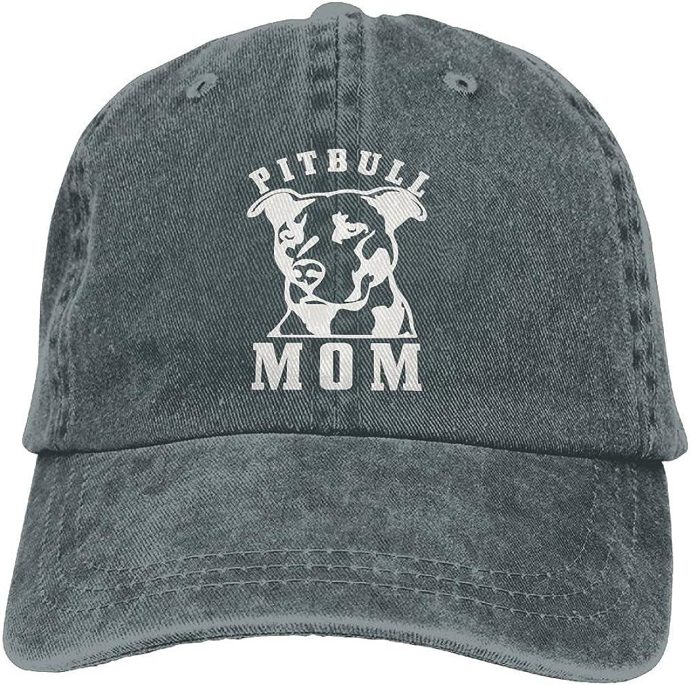 Kamaple Proud Pitbull Mom Hipster Unisex Denim Jeans Adjustable Baseball Hat Hip-Hop Cap for Women