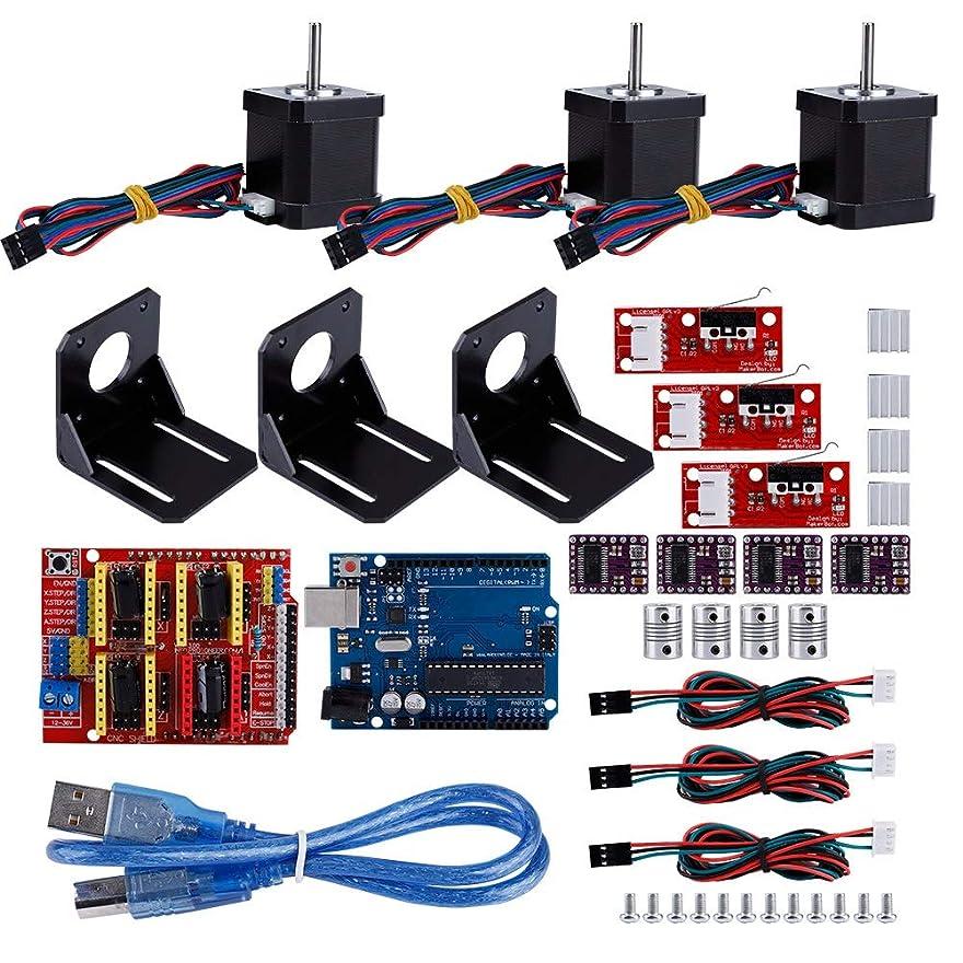 戻す試用任意3Dプリンターコントローラーキット、Arduino +4カップリング3Dプリンターアクセサリーキット用CNCキット