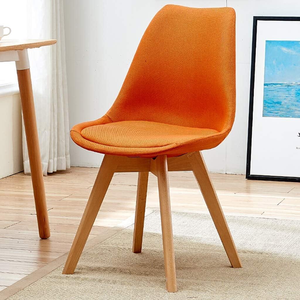 Bois Massif Chaise De Salle À Manger, Cuisine Empiler Des Tabourets, Moderne Meubles 45cm  Pour Comptoir 75cm (Color : Orange) Orange