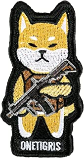 OneTigris K9 Patch Dog Morale Patch for Vest Harness Collar Leash (Shiba Inu)
