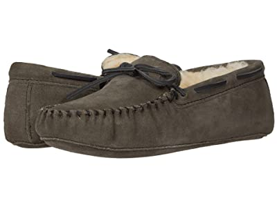Minnetonka Sheepskin Softsole Moc (Grey) Men