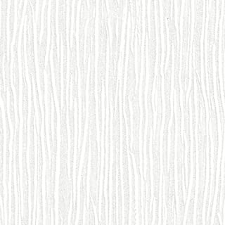 Forest White Embossed Textured Wallpaper for Walls - Double Roll - by Romosa Wallcoverings