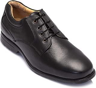tZaro Genuine Leather Black Shoes - Mr Smooth Lawyer, DEBLK251SG