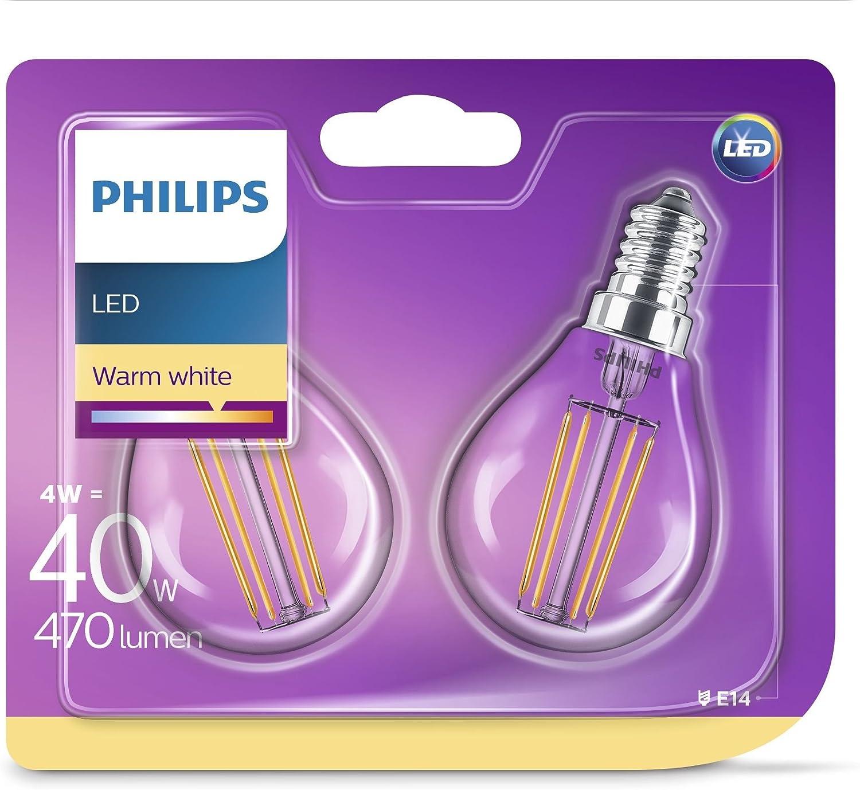warmwei/ß 250 Lumen 2700K E14 Tropfen Philips LED classic Lampe ersetzt 25 W