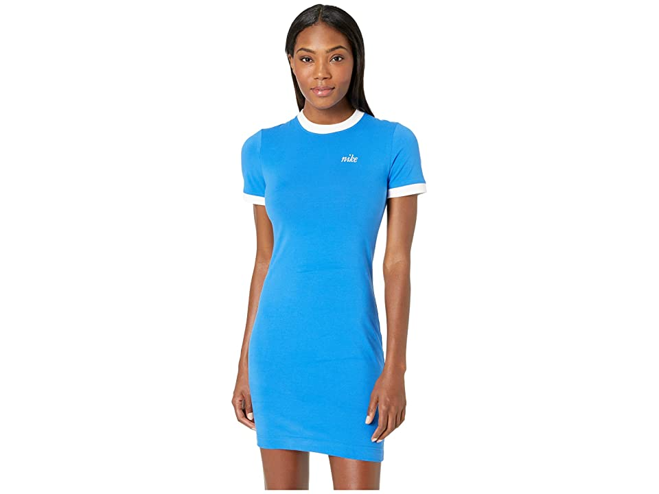 Nike Sportswear Graphic Dress (Signal Blue/White) Women