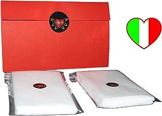 Filtri tnt, 96 pezzi, MITELLA, ITALIA HANDMADE, filtro intercambiabile per protezione facciale lavabile, resistente e morb...