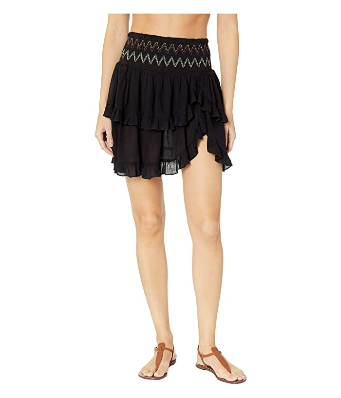 SOLUNA SWIM Heat Wave Ruffle Skirt Cover-Up (Night) Women