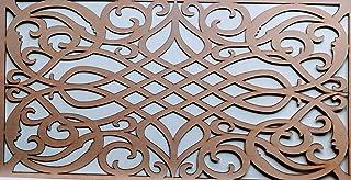 LaserKris - Rejilla decorativa gótica para radiador, panel de MDF perforado (4X2) G4