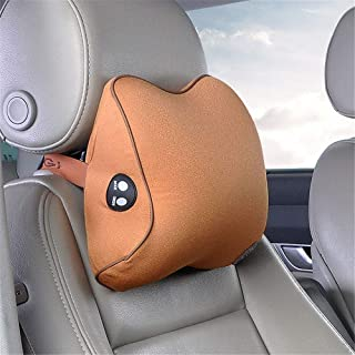 Car Neck Pillow Memory Foam Car Seat Neck Electric Massage Pillow Headrest Cushion For Neck Relief Cervical Support With Washable Cover Memory Foam And Ergonomic Design for Driving, Travel, Home and O