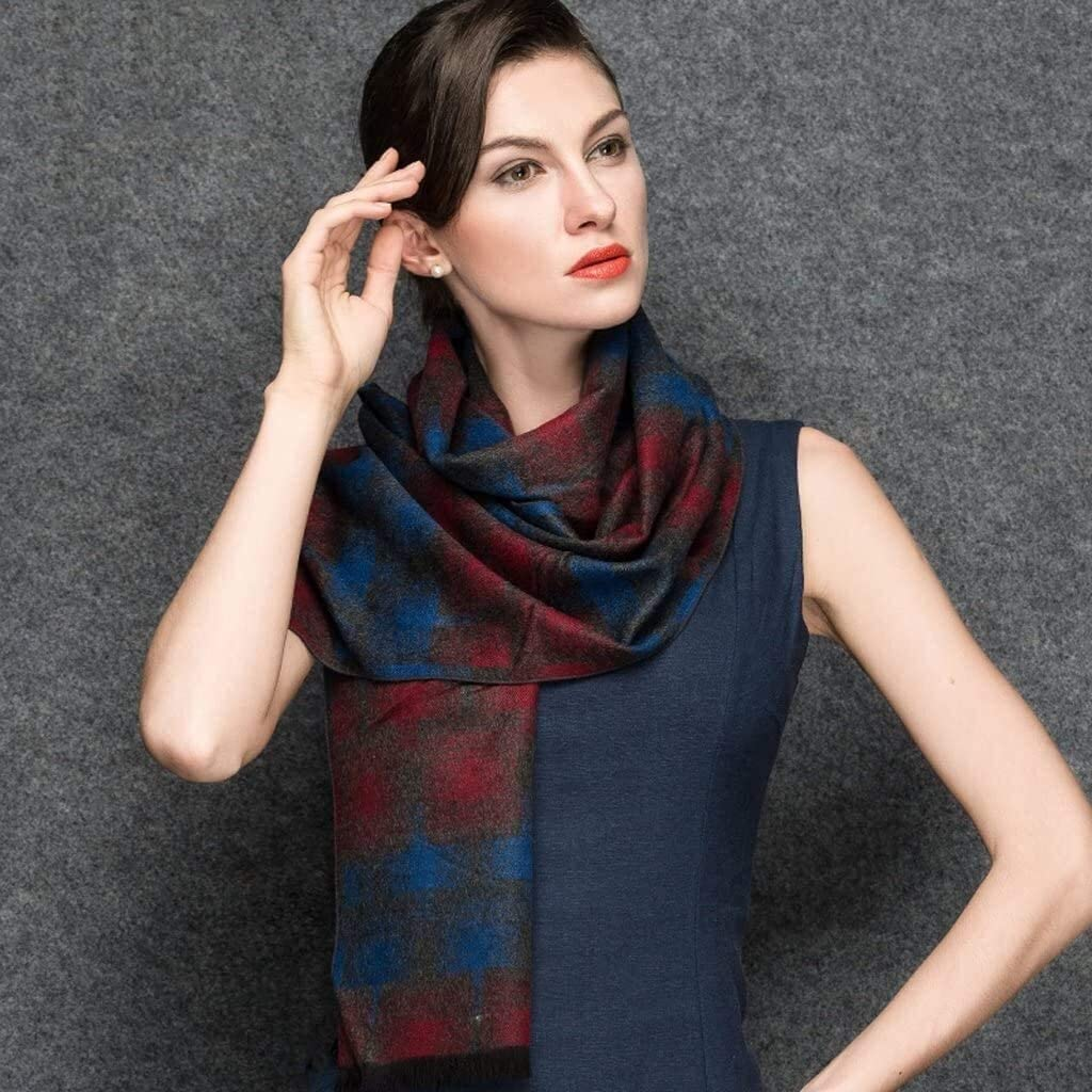 YIWANGO Women's Autumn and Winter Scarf Silk Scarves Ms. Scarves Scarves Ms. Warm Scarves Couple Scarves Warm Field Women's Warm Long Shawl