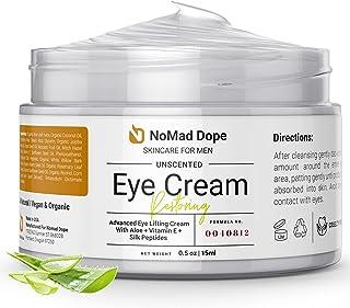 کرم چشم مردانه- کرم دور چشم ضد پیری مردانه برای کاهش پف و کیسه- کرم سفت کننده طبیعی پوست ارگانیک- کرم لیفت کننده مرطوب کننده چشم- درمان حلقه های تیره زیر چشم مردان- ساخت آمریکا 0.5 اونس