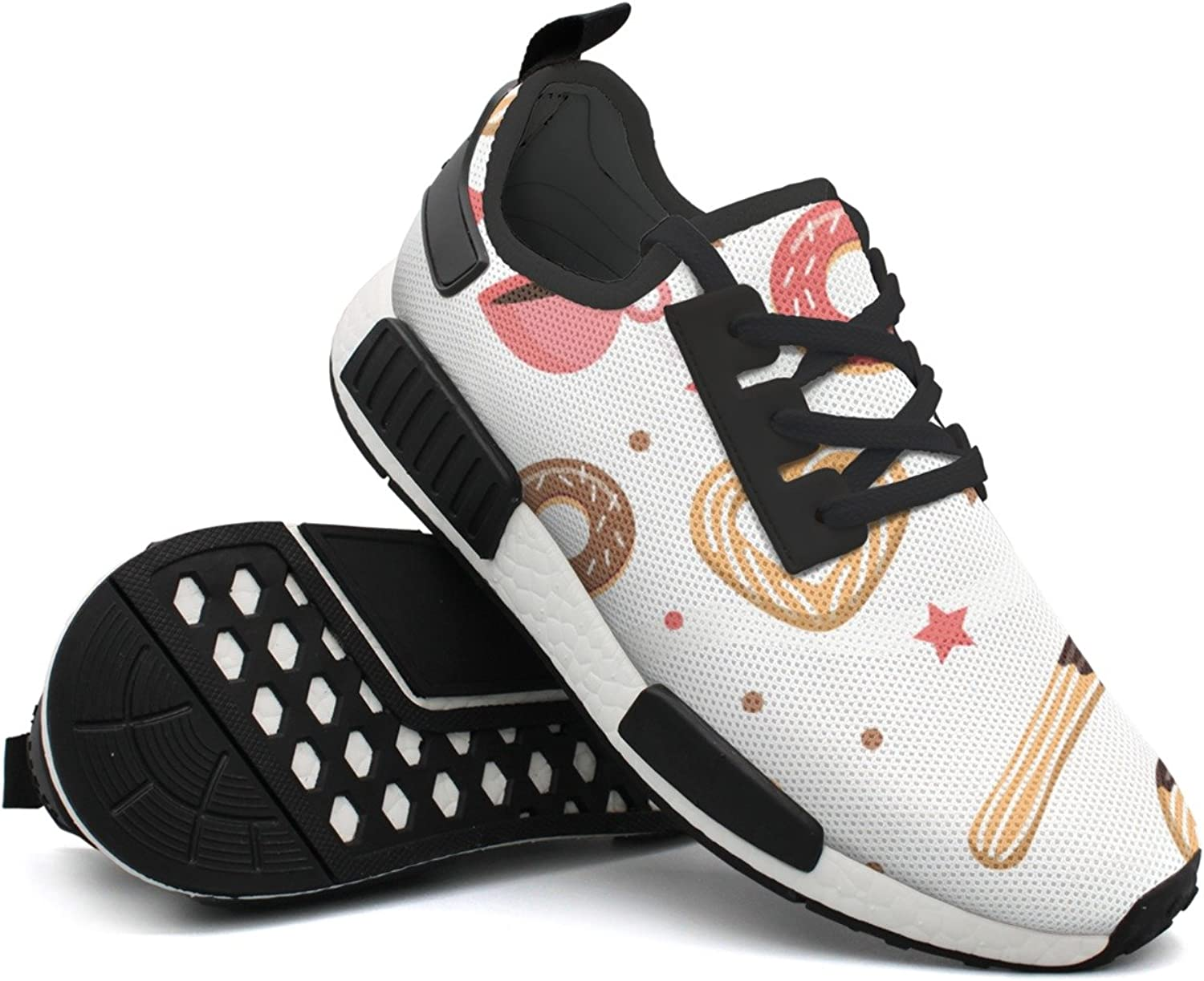 Fashion Sneakers shoes For Men Churros And Donut colorful Lightweight Breathable Mesh Mens Running shoes