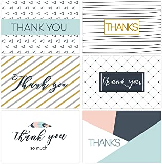 Thank You Cards - TINKSKY 30 Pack Thank You Notes Cards Bluk Box Set with Envelopes & Stickers for Graduation, Business, Baby Shower, Wedding Birthday Party, Mother's Father's Day, Thanksgiving Cards