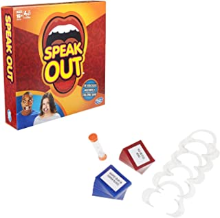 Hasbro Speak Out Game- Family and Party Game that's a Mouthful of Fun with Game Cards and More ,For Halloween Games