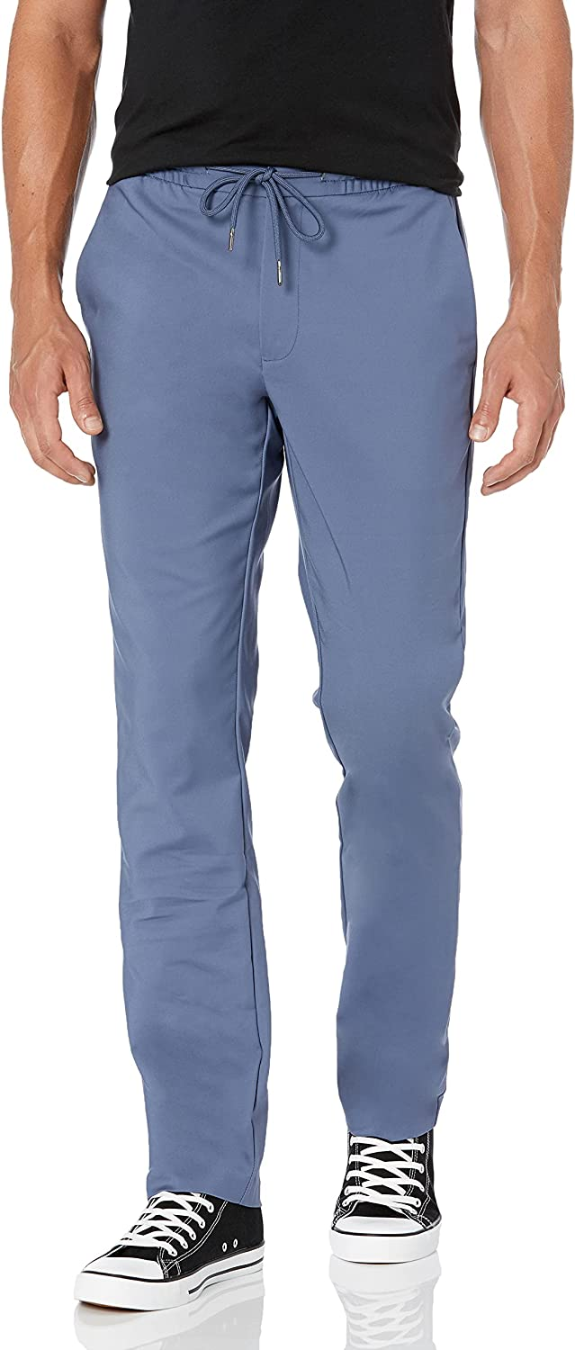 Goodthreads Men's Athletic-Fit Regular discount Seattle Mall Modern Pant Drawstring Stretch