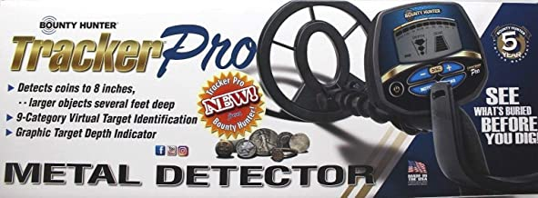 BOUNTY HUNTER TRACKER PRO ADJUSTABLE METAL DETECTOR w/ LCD TARGET ID