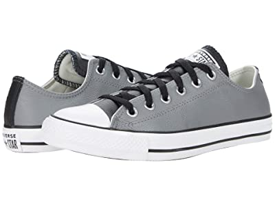 Converse Chuck Taylor All Star Three-Color Leather Ox (Mason/Black/White) Athletic Shoes