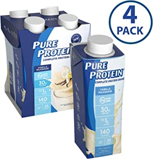 Pure Protein Complete Ready to Drink Shakes, High Protein Vanilla Milkshake, 11oz, 4 Count
