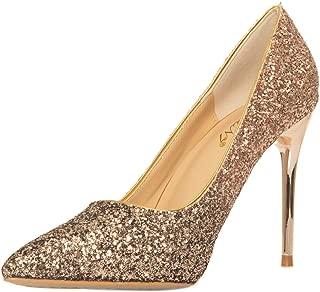 JSUN7 Women's Fashion Stiletto High Heel Dress Pumps Shoe