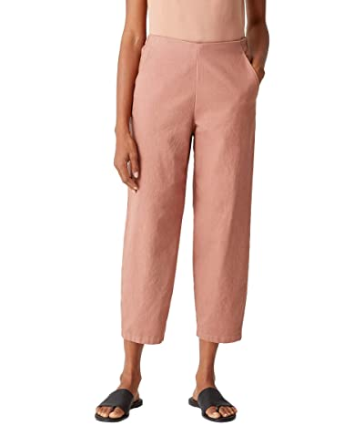 Eileen Fisher Organic Cotton Hemp Stretch Ankle Lantern Pants (Clay) Women