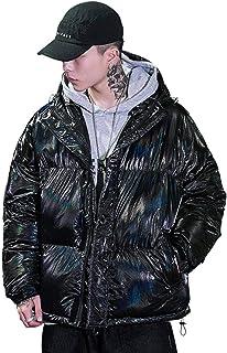 N-B Thai King ropa de hombre 丨 Abrigo de hombre suelto invierno brillante impresión chaqueta de plumón hombres