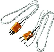 WOVELOT 2pzs Tipo K 800C Sensor de termopar de medicion de plomo de alambre 1M 3.3 pies